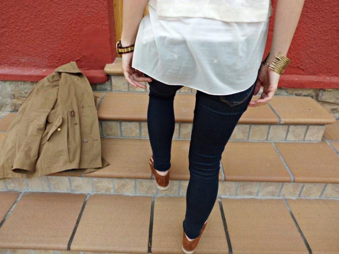 outfit espadrilles tachuelas zara