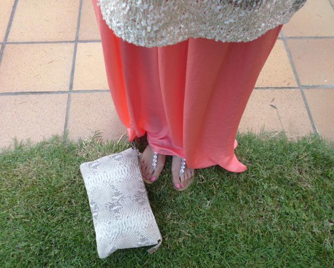 falda larga inditex