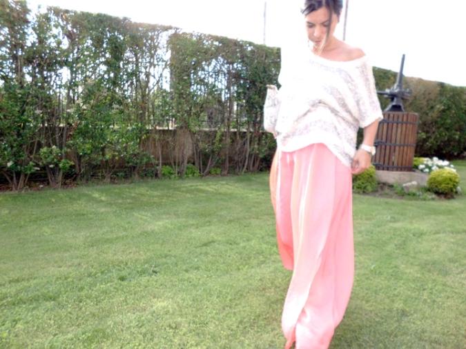 falda larga zara