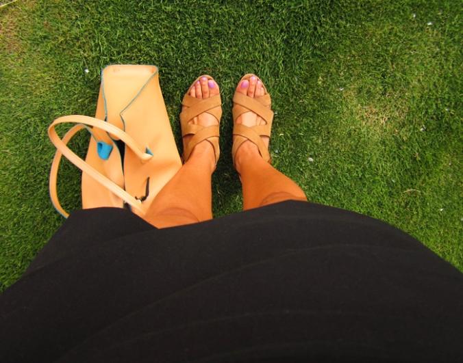 uterqüe sandalias beige