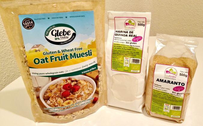 Muesli avena, Amaranto y harina de Quinoa Sin Gluten